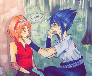 sasusaku, love, and selbst gemalt image