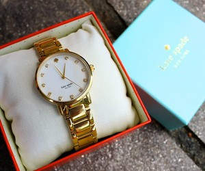 gold, kate spade, and watch image
