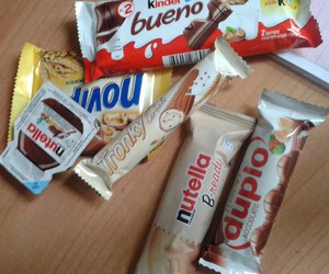 duplo, nutella, and kinder bueno image