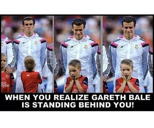 funny, real madrid, and gareth bale image