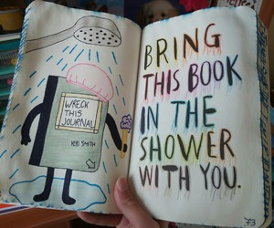 shower, journal, and wreck this journal image