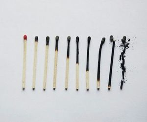 fire, match, and grunge image
