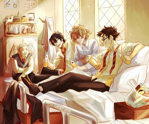 harry potter, james potter, and sirius black image