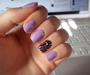 nails, pretty, and purple image