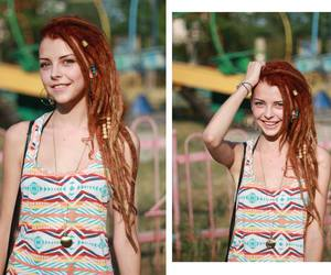 dread, ginger, and girl image