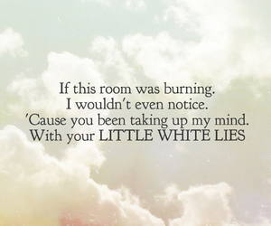 little white lies, Lyrics, and one direction image