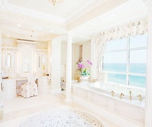 awesome, bathroom, and beach image
