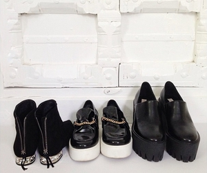 shoes, black, and white image