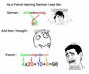french, funny, and german image