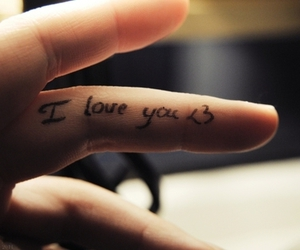 love, I Love You, and fingers image