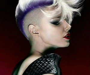 coiffure, violet, and model image