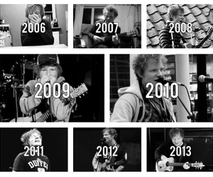 black and white and ed sheeran image