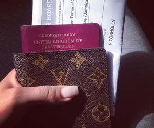 LV, passport, and Louis Vuitton image
