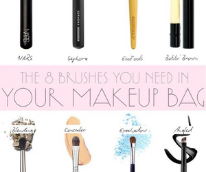 Brushes, makeup, and bag image