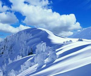 blue, white, and mountains image