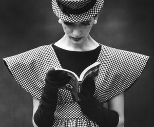 fashion, book, and black and white image