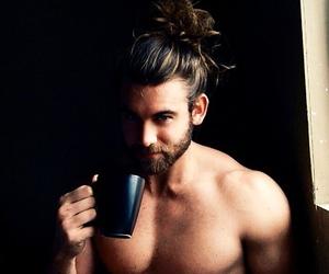 beard, cup, and gentleman image
