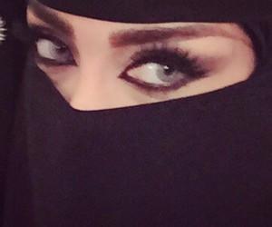 arab, eyes, and gold image
