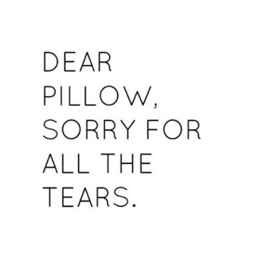tears, pillow, and quotes image