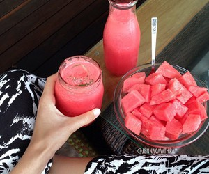 watermelon, food, and fruit image