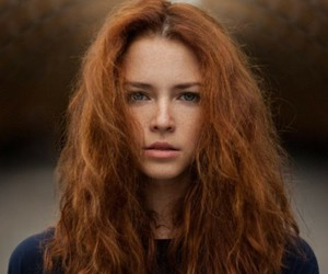 girl, ginger, and hair image