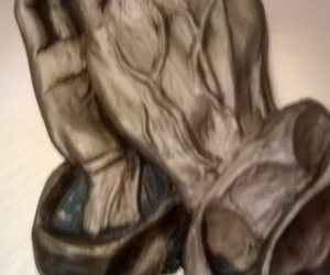 hands, pewter, and prayer image