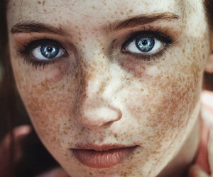 freckles, blue, and eyes image
