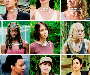 twd, michonne, and andrea image