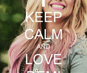 demi lovato, demi, and keep calm image