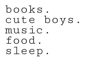books, food, and music image