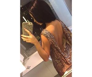 dress, beautiful, and brunette image