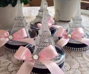 eiffel, ornament, and pink image