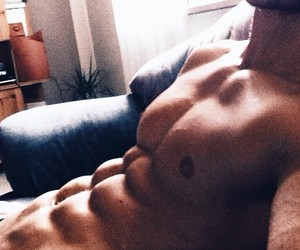abs, guy, and man image