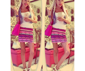 cool, pink, and skirt image