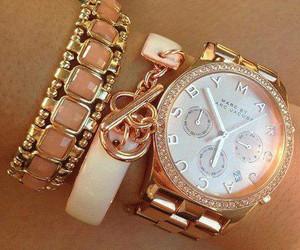 bracelet, gold, and fashion image