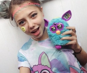 colorful, girl, and grunge image