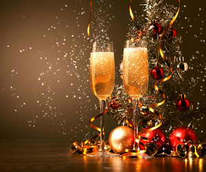 champagne, new year, and christmas image