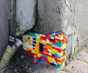 lego, wall, and art image