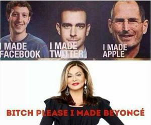 beyoncé, funny, and apple image