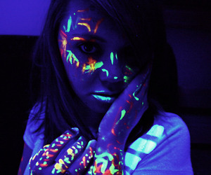 girl, highlighter, and party image