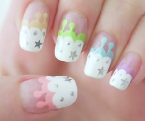 nails, stars, and rainbow image