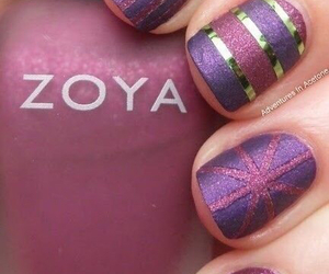 gold, pink, and zoya image