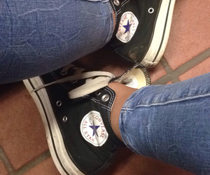 allstar, black, and converse image