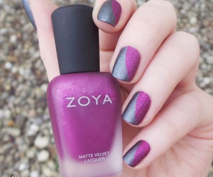 manicure, nails, and silver image