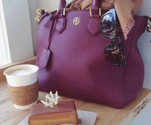 bag, coffee, and purple image