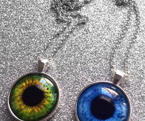 eye, necklace, and tumblr image