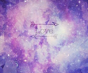 pink, universe, and love image