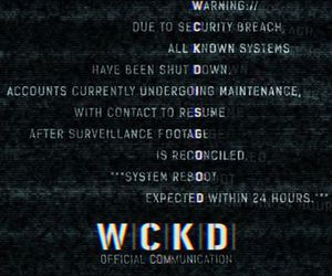 wicked, maze runner, and wckd image