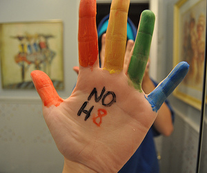 hate, hand, and photography image