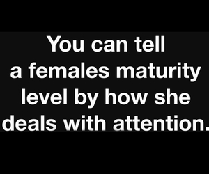 attention, female, and quote image